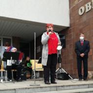 Přítomné pozdravila předsedkyně Středočeských levicových žen Alena Grospičová